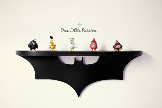 Bat Shelf, Shelf For Baby Nursery, Kids Room, Wall