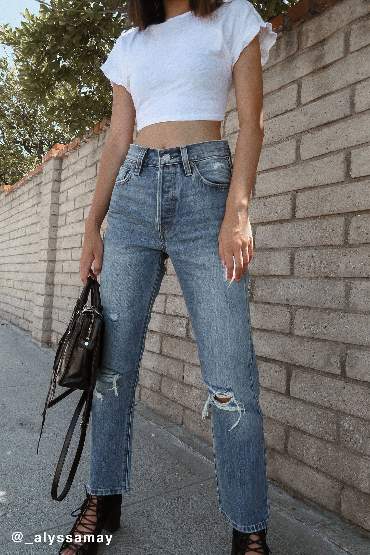 a8a14eec Levi's 501 Original Cropped Jean - Vintage Find in 2019 | style ...