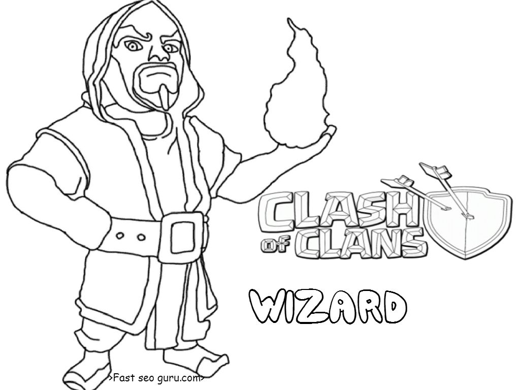 clash of clans hog rider coloring pages coloring pages - Clash Royale Coloring Pages
