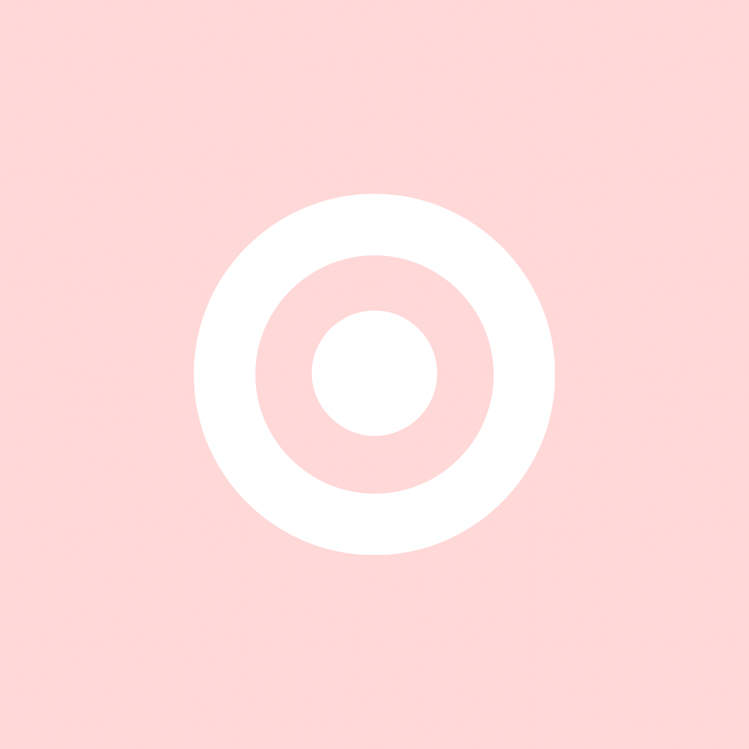 Target Cute App Widget Icon Pastel Pink Wallpaper