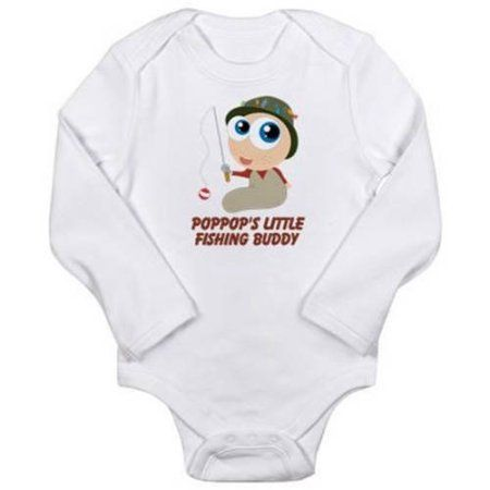 d0c70833821 Cafepress Personalized Fishing Buddy Long Sleeve Infant Bodysuit ...