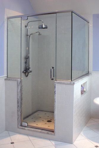 Bathroom Knee Wall bath photos shower knee wall design, pictures, remodel, decor and