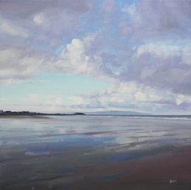 John Bell Prestwick Beach Early Morning Landscape Paintings Oil Painting Landscape Ocean Painting