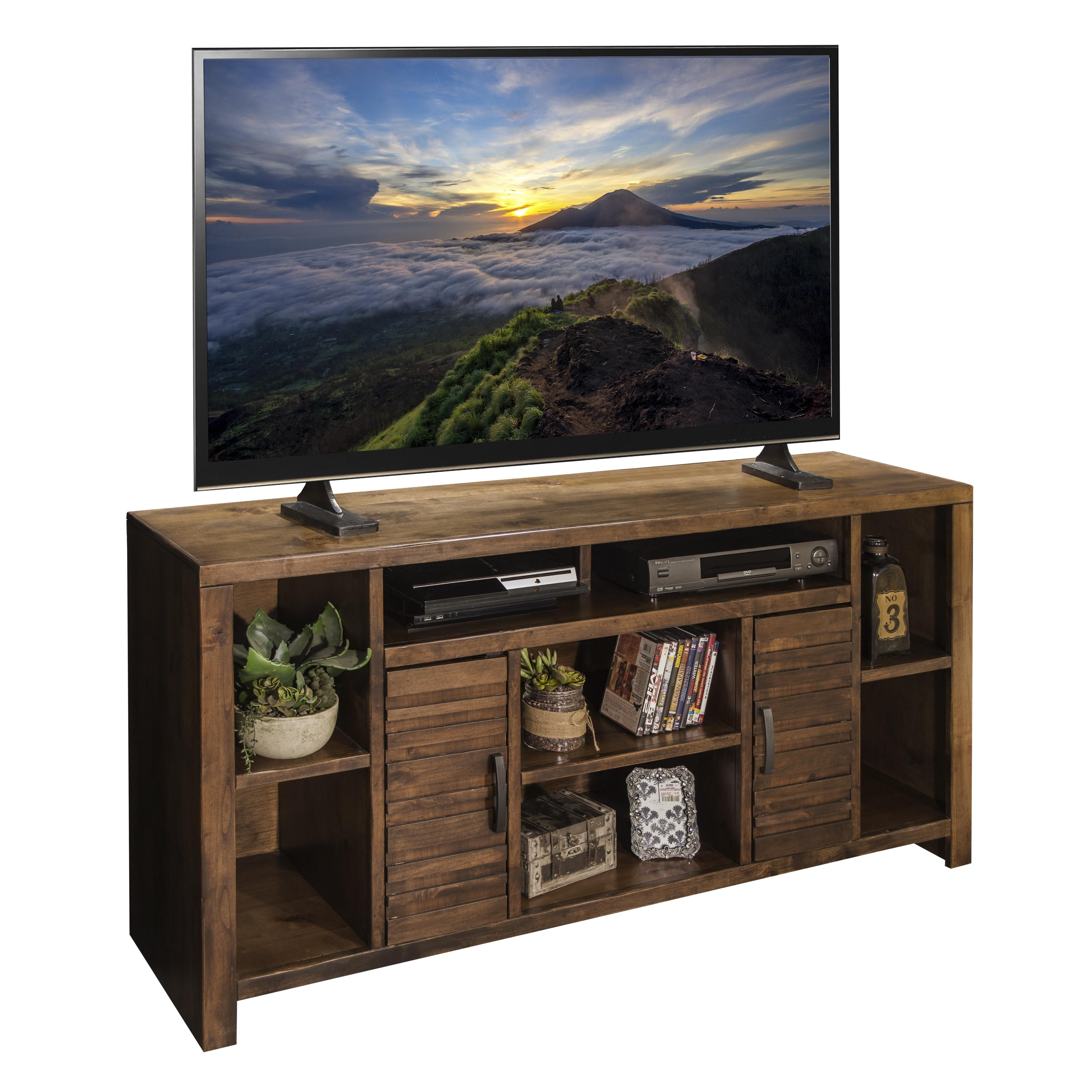Sausalito Casual 64 Tv Console With Carved Stripes By Legends Furniture Legends Furniture
