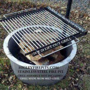 Swinging Grill For Double Ring Fire Pit Steel Fire Pit Fire Pit Fire