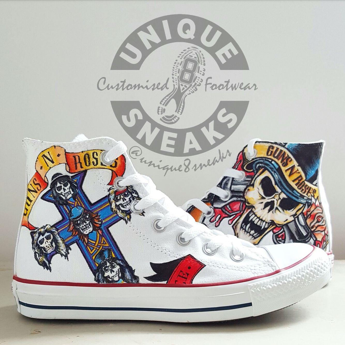 Skull N' Roses AIR FORCE 1 Black Low Custom Sneakers hype | Etsy
