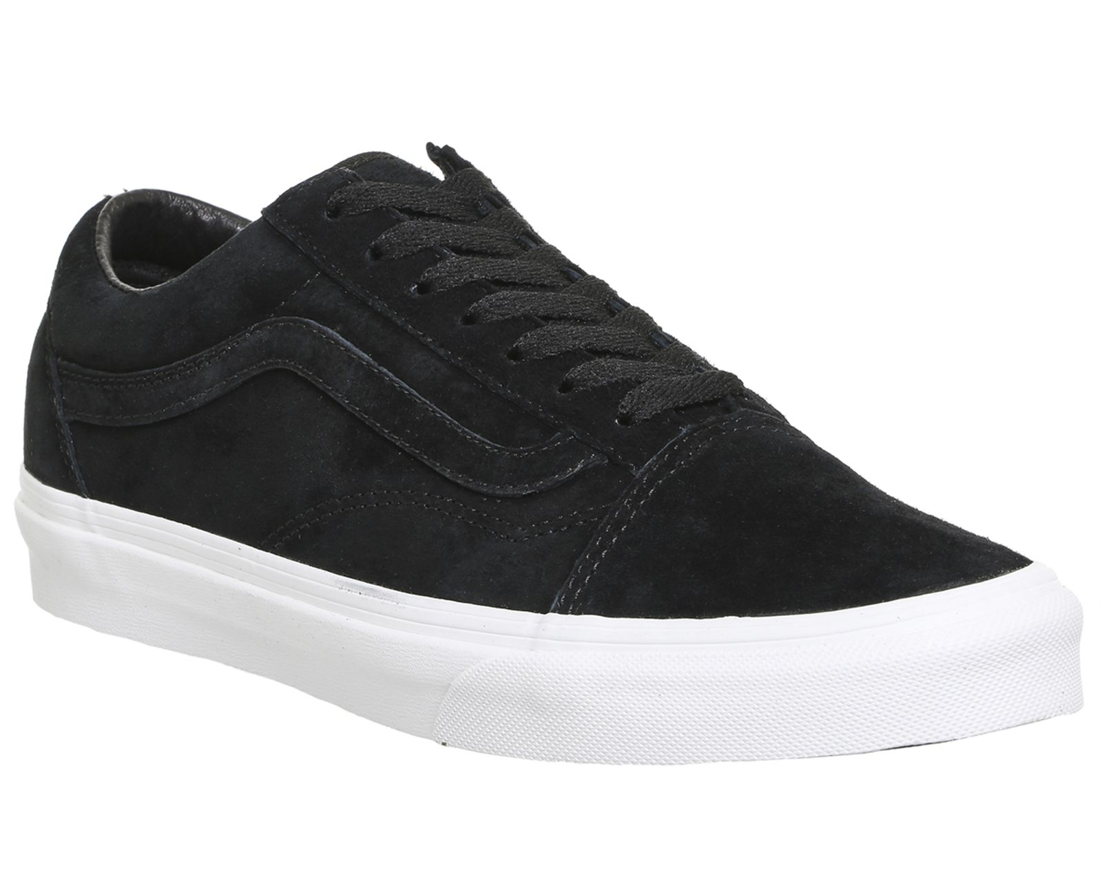 ecdfda36a16 Vans Old Skool Black Suede True White