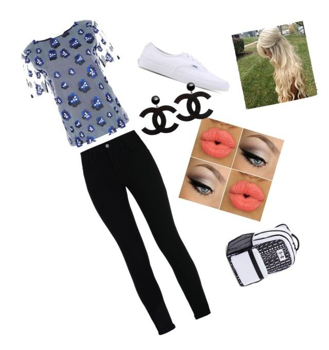 """""""School outfit #2"""" by animegirl122 ❤ liked on Polyvore featuring STELLA McCARTNEY, DVF, Vans and Under Armour"""