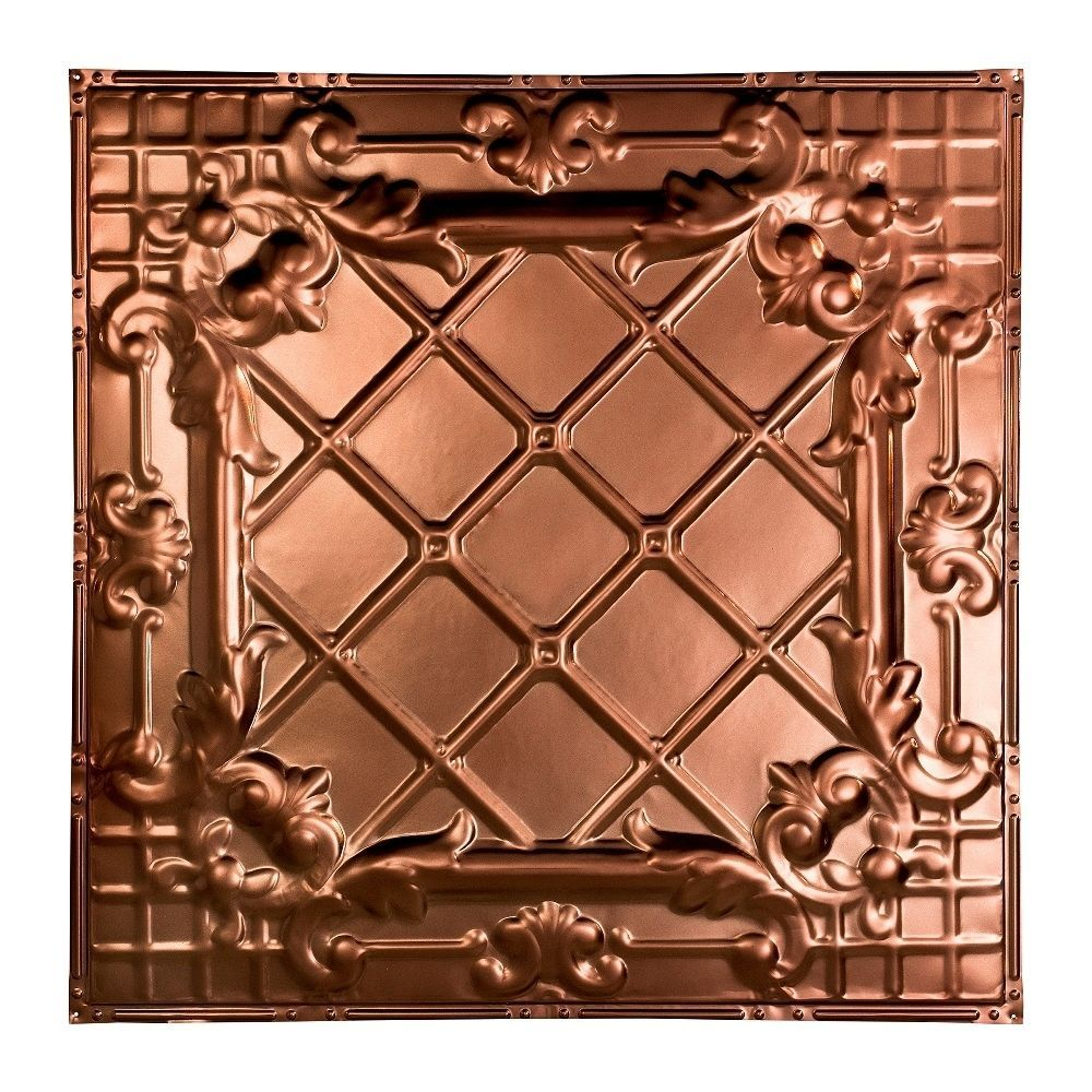 Great Lakes Tin Toledo Vintage Bronze 2-foot x 2-foot Nail-Up Ceiling Tile