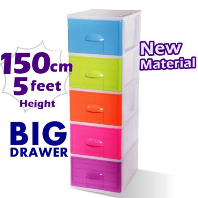 Plastic Drawer Big Cabinet Storage Cabinet Laci 3tier 4tier 5tier Plastic Drawer Storage Cabinet Wh In 2020 Storage Cabinets Storage Plastic Drawers