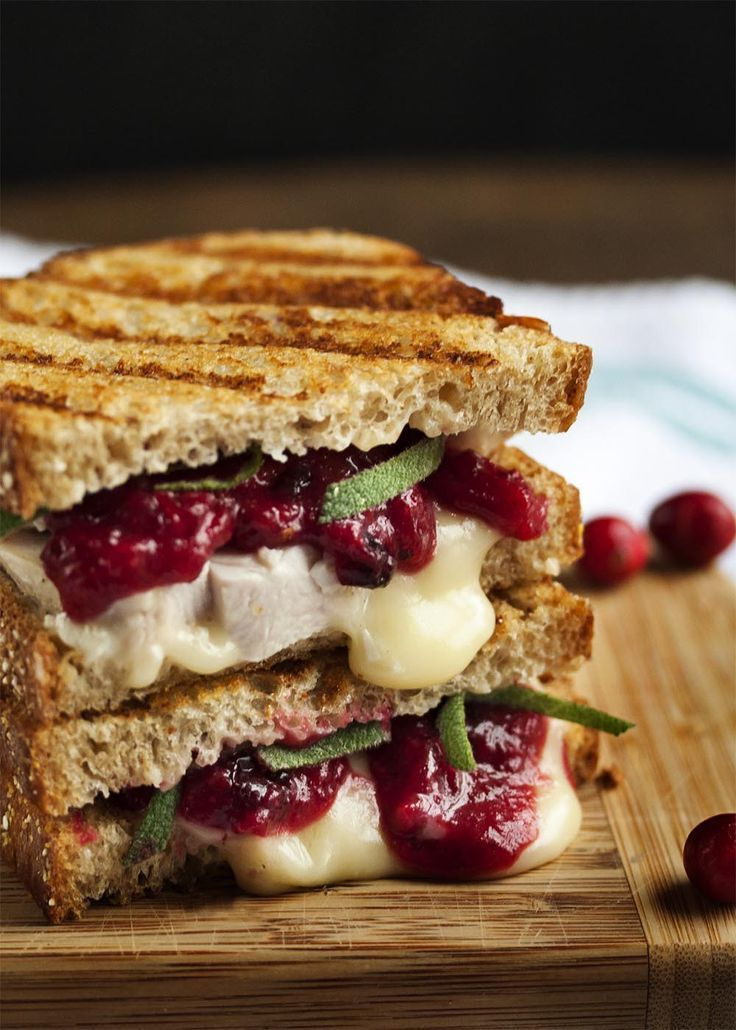 Turkey, Brie and Cranberry Mustard Panini - Just a Little Bit of Bacon -  Turkey, Brie and Cranberr