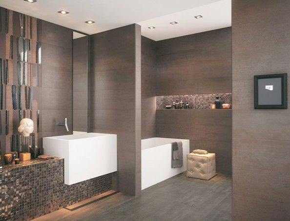 Sleek Modern Chrome Plated Bathroom Toilet Cleaner Brush W Canister Holder Mygift With Images Bathroom Design Luxury Minimalist Bathroom Design Modern Bathroom Design