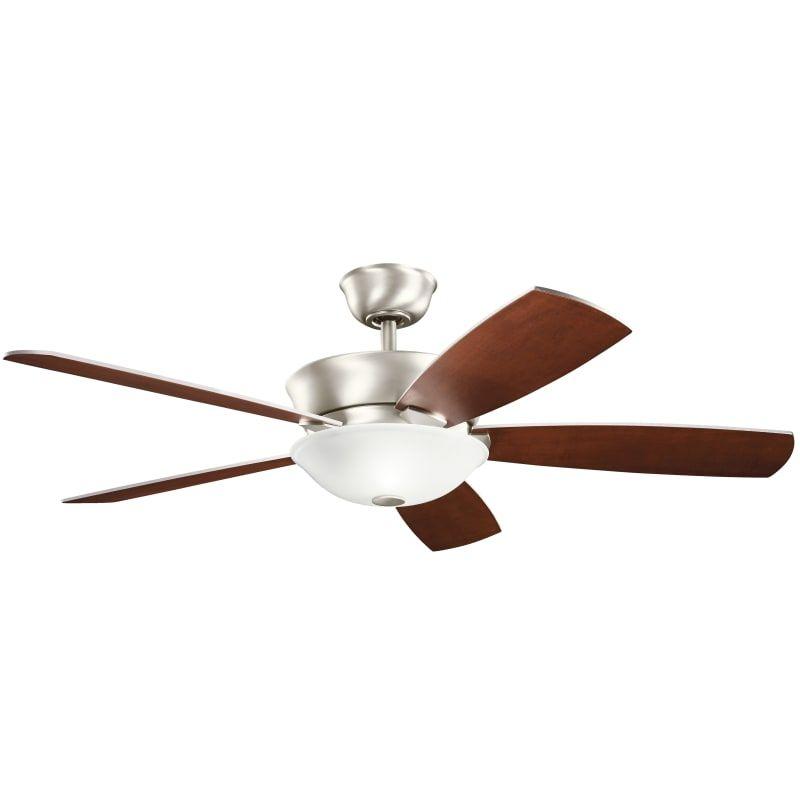Kichler 300251 Ceiling Fan Brushed Nickel Ceiling Fan Fan Light Kits