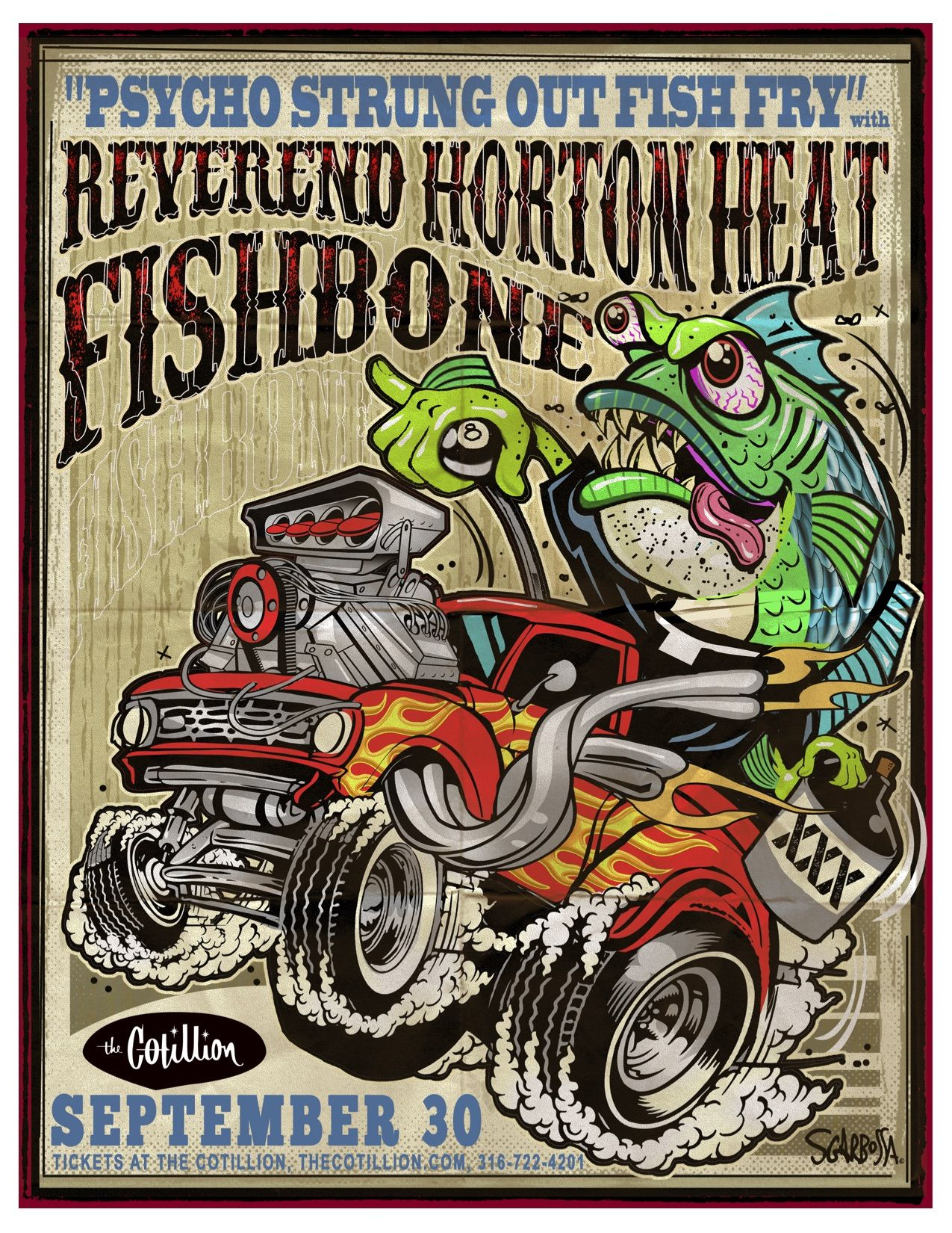 "From: Dallas, Texas. The Reverend Horton Heat is the name of a Dallas, Texas-based psychobilly trio. The group is led by James C. Heath, AKA Reverend Horton Heat (2). Heath is a singer, songwriter and guitarist. The group originally formed in 1985, playing its first gigs in Dallas's Deep Ellum neighborhood. Its current members are Jim ""Reverend Horton"" Heath on guitar and lead vocals, Jimbo Wallace on the upright bass, and Scott Churilla on drums."