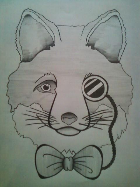 Fantastic Mr Fox Drawing Art Drawings Fox Drawing