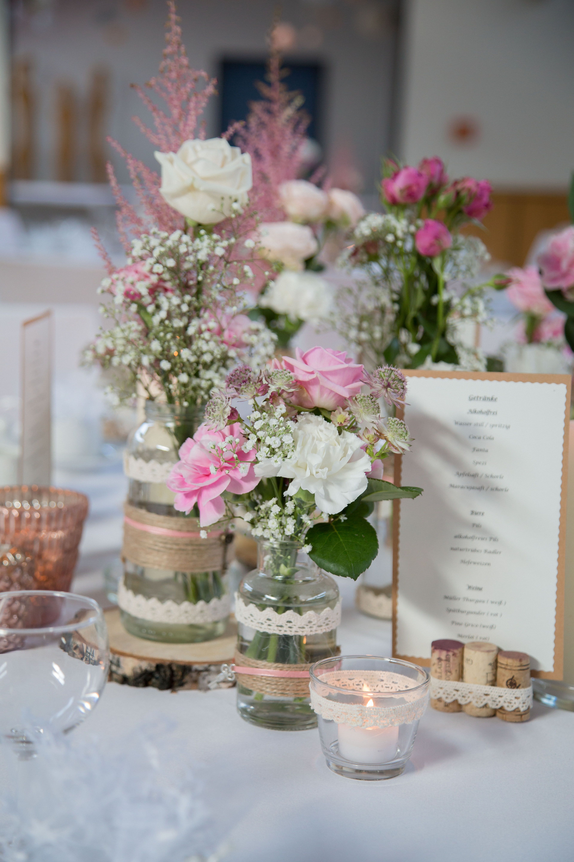 Hochzeit Wedding Dekoration Decoration Tische Rosa Weiss Creme Vintage Dekoration Hochzeit Hochzeit Tischdekorartion Tischdeko Hochzeit