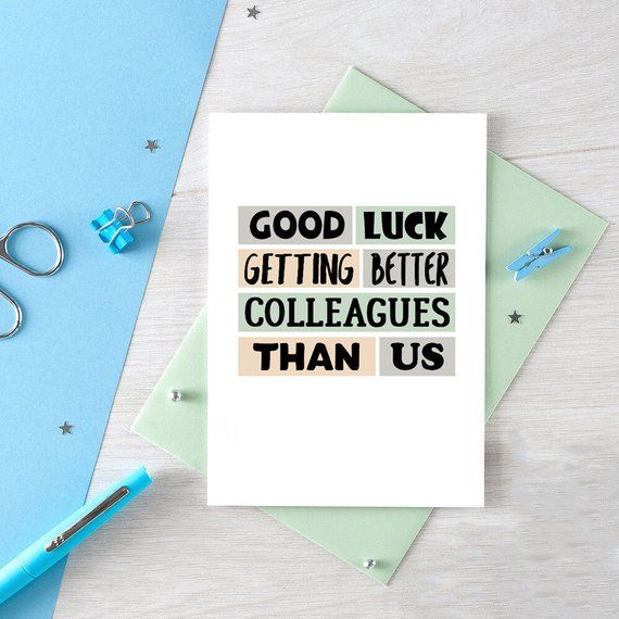 funny new job card coworker leaving good luck new job