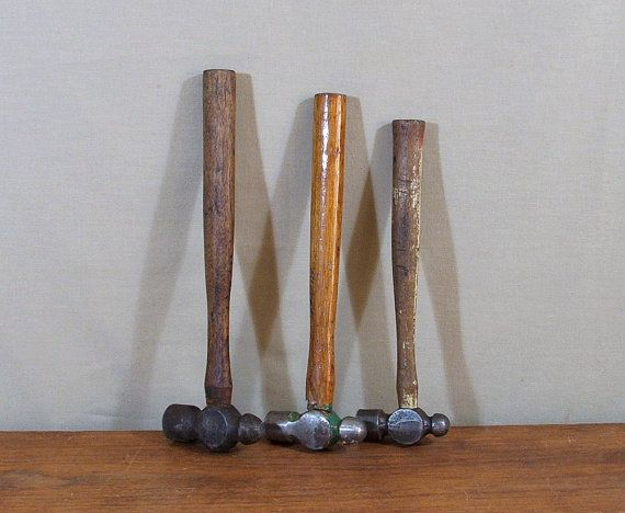 Ball Peen Hammers Collection of Three Vintage by TagSaleFinds, $25.00