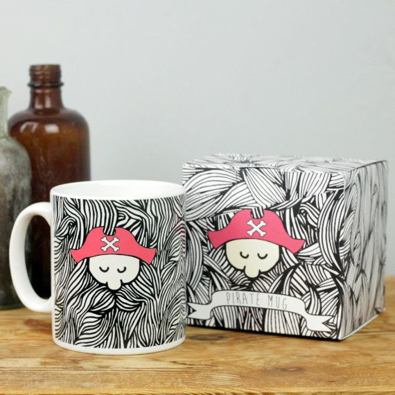 Pirate Mug by MagpieNeon on Etsy