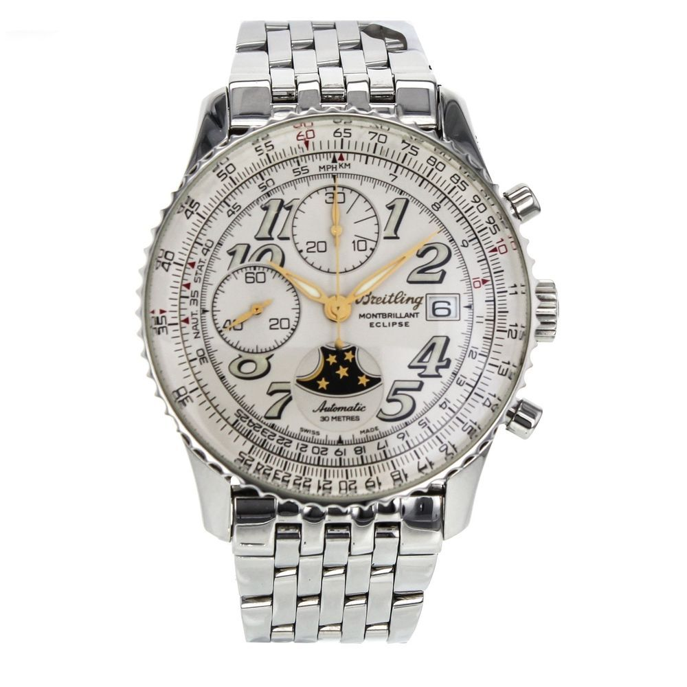 Breitling Montbrillant Eclipse Chronograph Cream Dial Men's Watch A43030 #Breitling #LuxurySportStyles