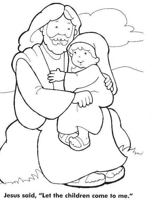jesus loves the little children coloring page - Jesus Children Coloring Pages