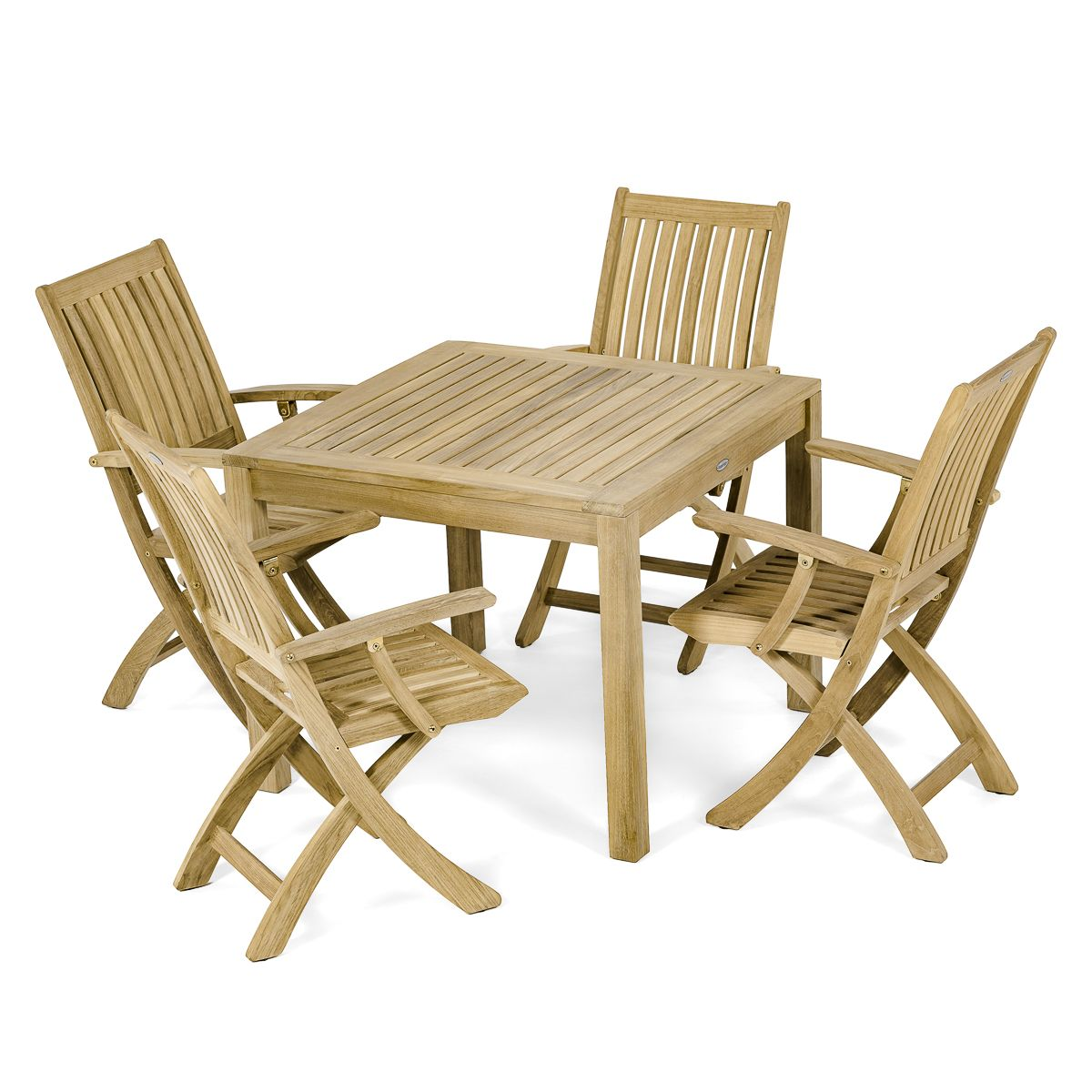 Folding dining table and chair set  Square Teak Table u  Folding Chairs  Dining For   Pinterest