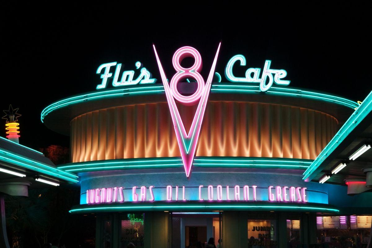 Flo's Cafe Cars Land at Disneyland California