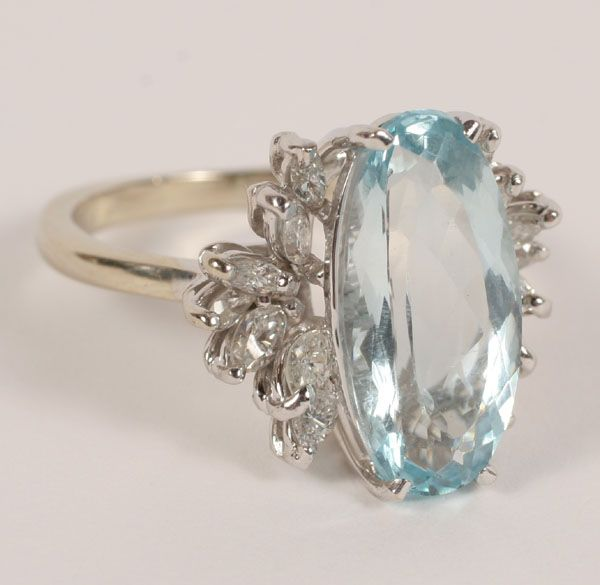 rings pin ring white topaz with blue oval gold set x measuring sky