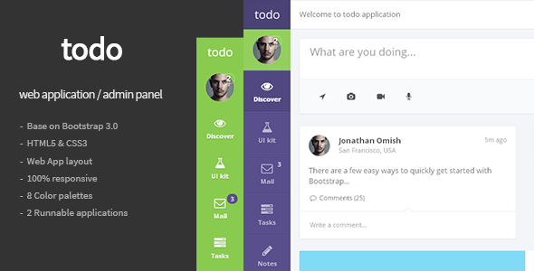 todo - Web Application and Admin Panel Template | App, Shopping ...