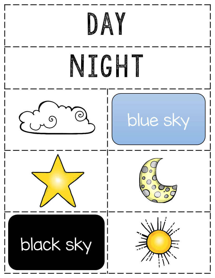 Day And Night Sorting Activity Perfect For A Science