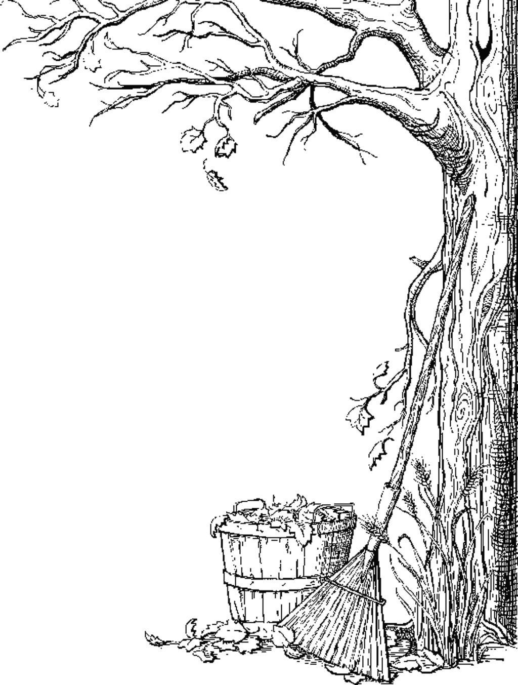 I Have Download Fall Leaf Falling Coloring Page