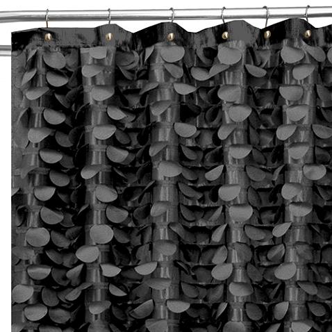 Gigi 72 Inch X 72 Inch Shower Curtain In Black Curtains Shower