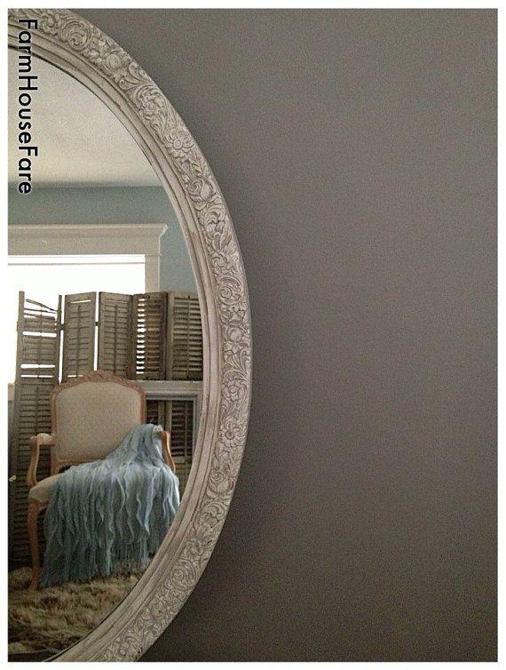 189 Large Wall Mirror Ornate Oval Bathroom Mirror White Nursery