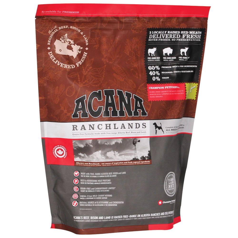 Acana Ranchlands Grain Free Dry Dog Food With Beef Petsolutions