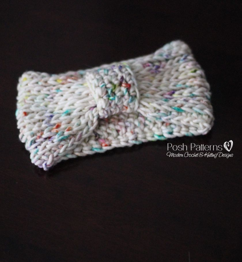 Free Crochet Pattern Knit-Look Headband   Accesorios
