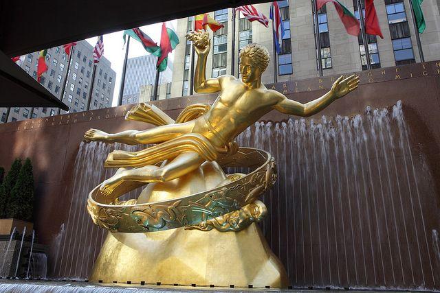 Resultado de imagen para estatua de prometeo en rockefeller center