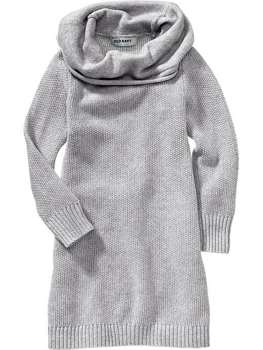 Old Navy Sparkle Cowl Neck Sweater Dresses For Baby Size 4T - Gray ...