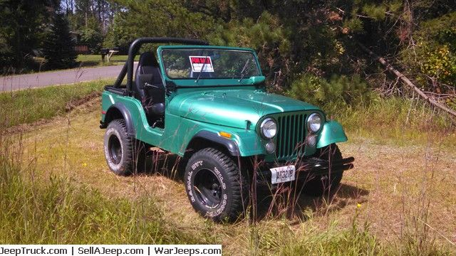 Nice 1975 Jeep CJ5 recently listed at