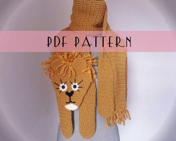 patron pdf en fran ais et anglais charpe lion au par filizadored crochet pinterest. Black Bedroom Furniture Sets. Home Design Ideas