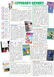 worksheet: Literary Genres Worksheets Wonders Unit Five Week One ...