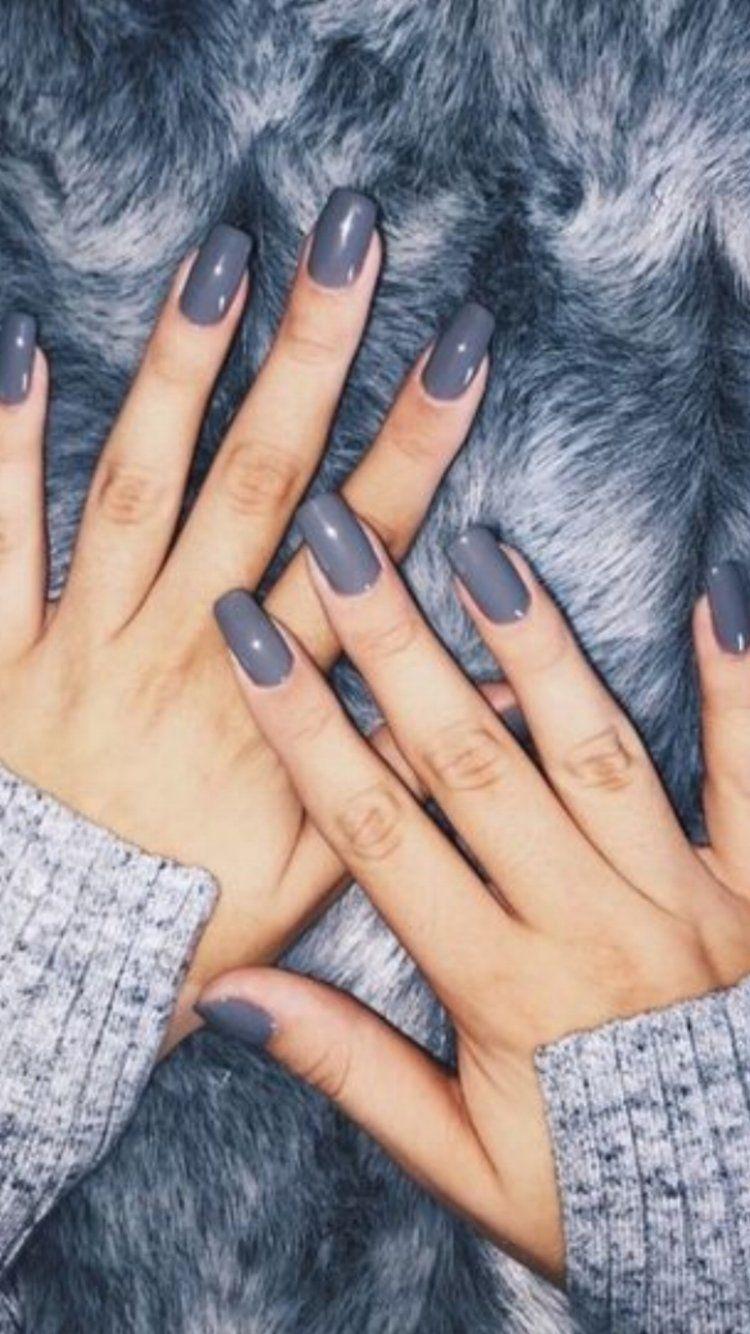 Winter Nail Color Ideas Makeup Nails Nail Colors Winter Gray Nails