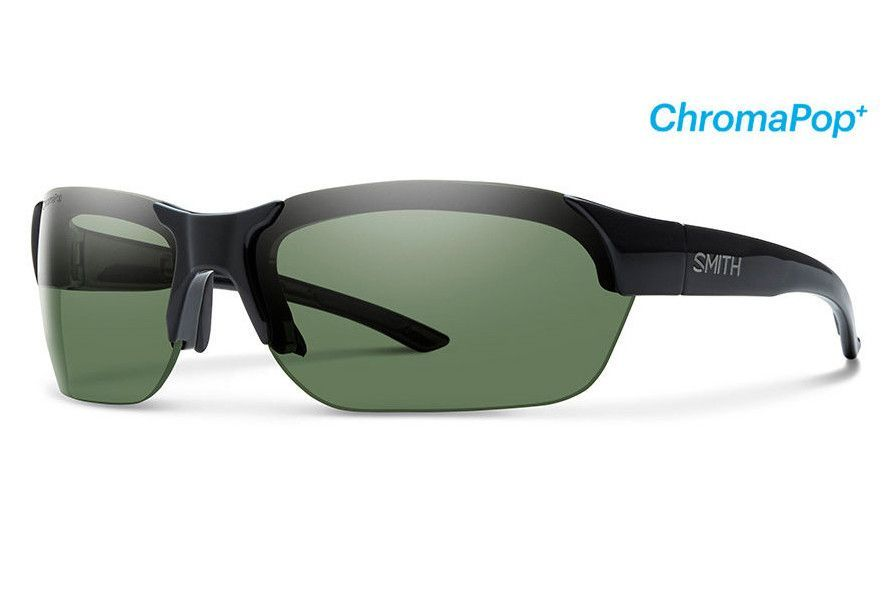 Smith - Envoy Black Sunglasses, ChromaPop+ Polarized Gray Green Lenses