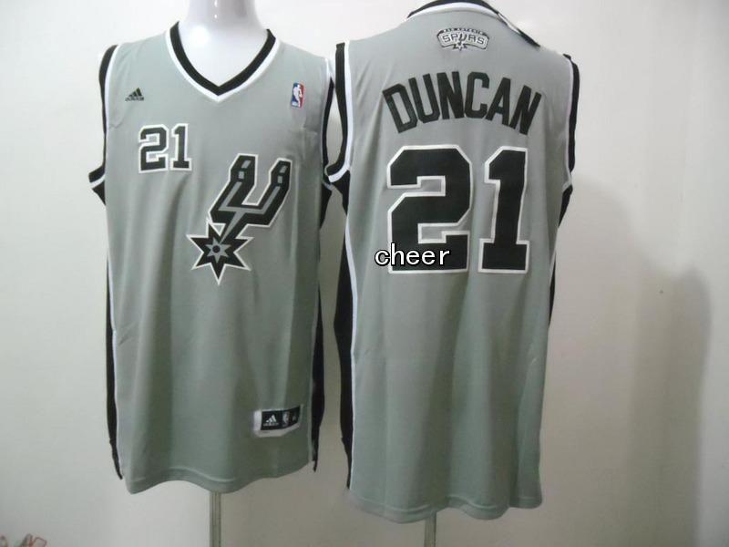 3e0d582e2 inexpensive nba new fabric jerseys san antonio spurs 21 duncan grey jerseys  89395 daf02