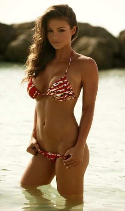 Hot brunette bikini