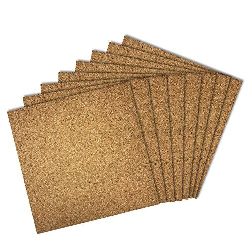 Thornton S Office Supplies Cork Bulletin Board Tiles Natural 12 Inch X 12 Inch Frameless 8 Pack Cork Tiles Cork Panels Cork
