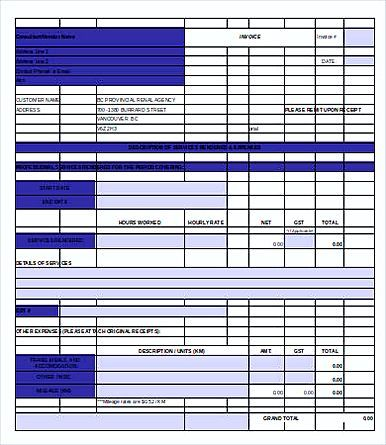 Free Printable Construction Invoice Templates  Free Printable
