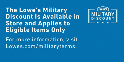 The Lowe S Military Discount Is Available In Store And Appliesj To Eligible Items Only Military Discounts Lowes Discount How To Apply