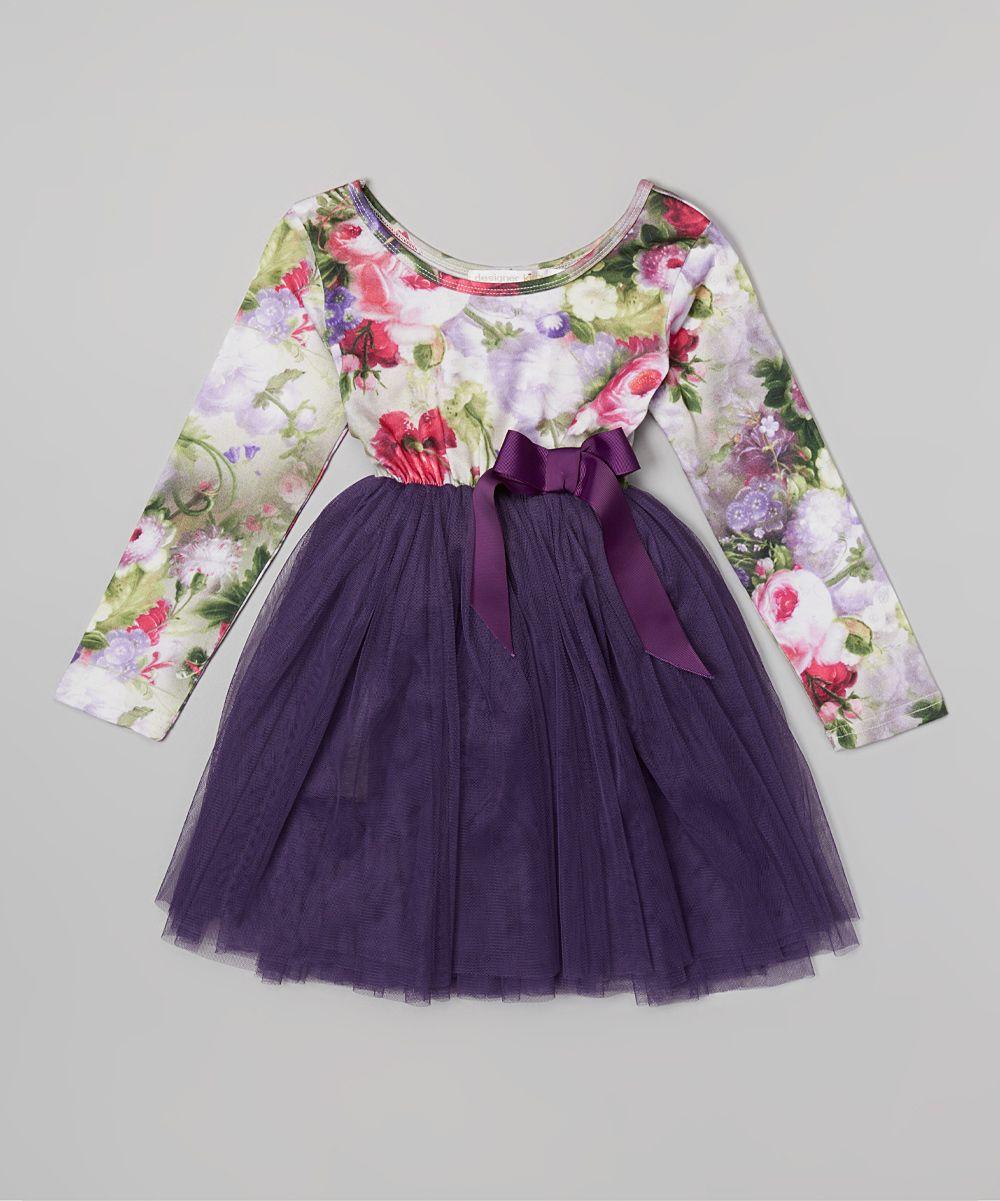 Purple Indiana Floral Tutu Dress - Infant, Toddler & Girls ...