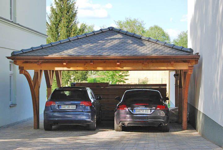 Ein Walmdach Carport Bietet Mehr Sicherheit Bei Ungunstigen Wetterbedingungen Walmdach Carport Dach
