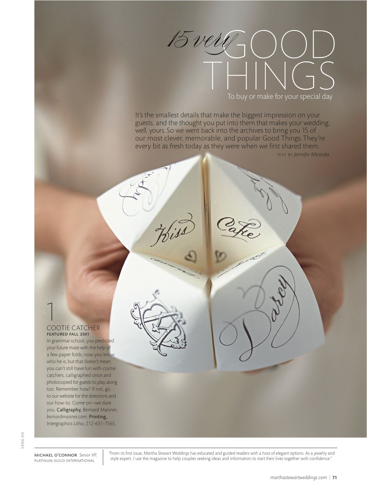 Creative Wedding games and favors